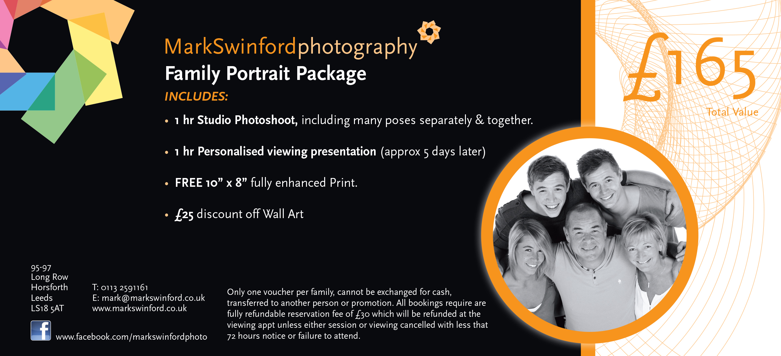 Mark Swinford Photography Family Portrait Voucher